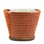 Southern Sweet Tea Swan Creek Ribbed Flared Vase Candle (Color: Pumpkin) | Swan Creek Ribbed Pottery Collection