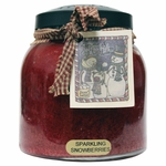 Sparkling Snowberries 34 oz. Papa Jar Keeper's of the Light Candle by A Cheerful Giver | Keeper's of the Light 34 oz. Papa Jar Candles by A Cheerful Giver