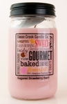 CLOSEOUT - Sugared Strawberry Swirl 24 oz. Swan Creek Kitchen Pantry Jar Candle | Swan Creek Candles Closeouts