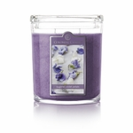 CLOSEOUT - Sugared Violet Petals 22 oz. Oval Jar Colonial Candle | Colonial Candle Closeouts