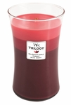 CLOSEOUT-Summer Fruits WoodWick Trilogy Candle 22oz | Discontinued & Seasonal WoodWick Items!