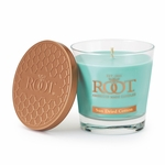 CLOSEOUT-Sundried Cotton 6.3 oz. Small Honeycomb Veriglass Root Candle | Root Candle Closeouts