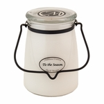 Tis the Season 22 oz. Butter Jar Candle by Milkhouse Candle Creamery | 22 oz. Butter Jar Candles by Milkhouse Candle Creamery