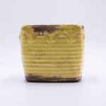 CLOSEOUT - Toasted Coconut Vintage Square Pot Swan Creek Candle (Color: Yellow) | Swan Creek Candles Closeouts
