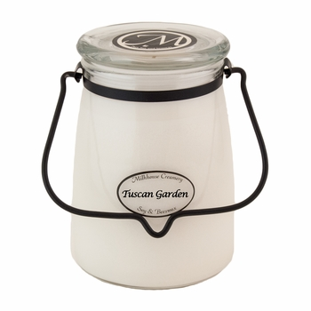 Tuscan Garden 22 oz. Butter Jar Candle by Milkhouse Candle Creamery