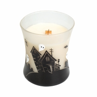 CLOSEOUT - Vanilla Bean Haunted House Hourglass WoodWick Candle