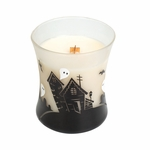 CLOSEOUT - Vanilla Bean Haunted House Hourglass WoodWick Candle | Discontinued & Seasonal WoodWick Items!