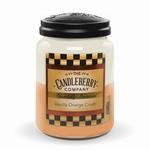 NEW! - Vanilla Orange Crush 26 oz. Large Jar Candleberry Candle | New Releases by Candleberry