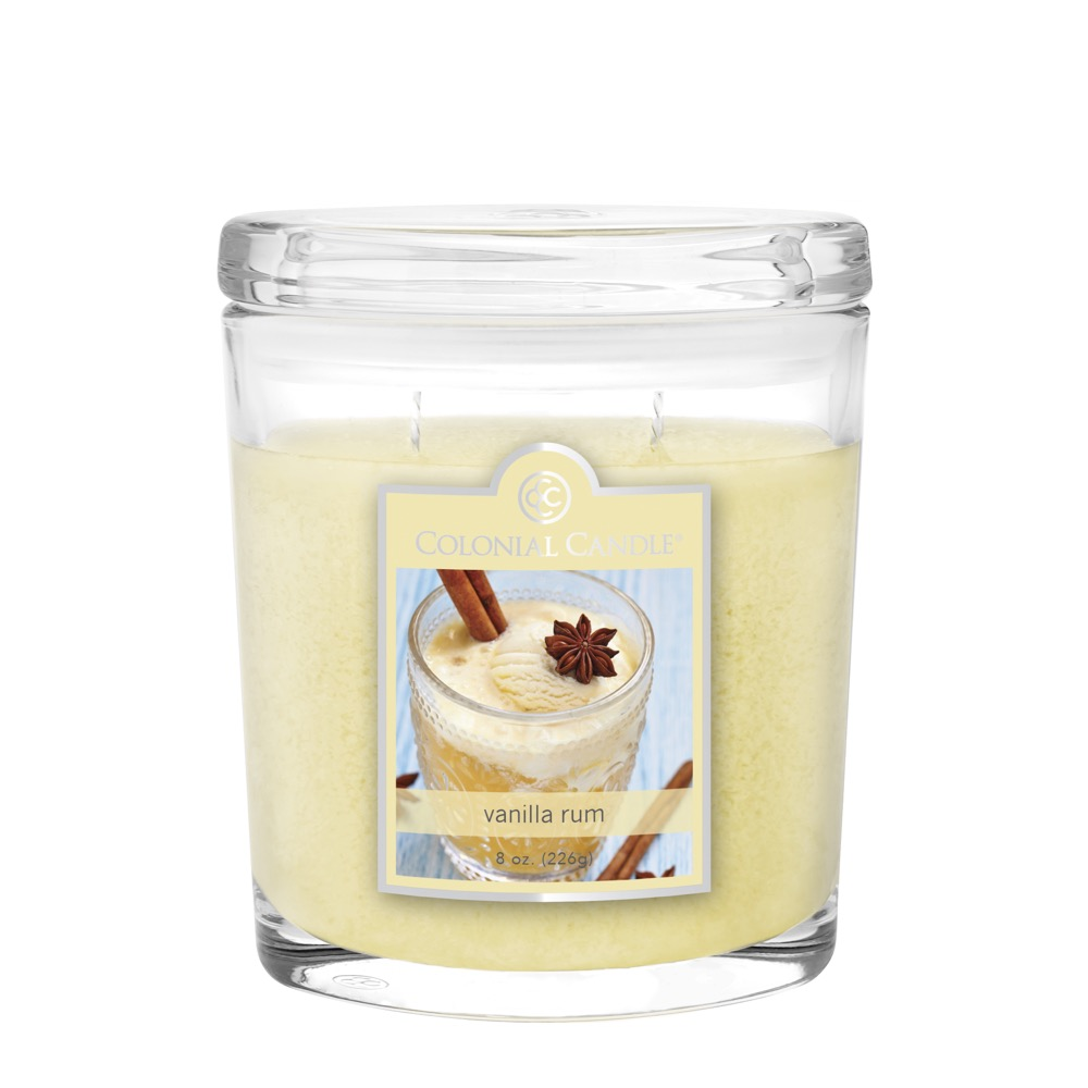 oval jar colonial candle