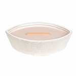 CLOSEOUT-Vanilla & Sea Salt Textured Ellipse WoodWick Candle with HearthWick Flame | Discontinued & Seasonal WoodWick Items!
