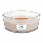 Vanilla & Sea Salt WoodWick Candle 16 oz. HearthWick Flame | HearthWick Ellipse Glass Candles