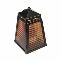 CLOSEOUT-Venetian Glass Lantern for 10 oz. WoodWick Candle