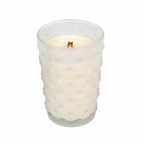 NEW! - Vintage Hobnail Mint Truffle WoodWick Candle