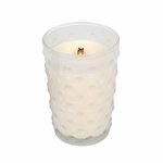 _DISCONTINUED - Vintage Hobnail Mint Truffle WoodWick Candle | Discontinued & Seasonal WoodWick Items!