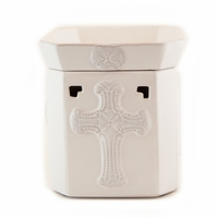 White and Grey Glory Radiant Fragrance Warmer