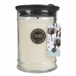 NEW! - White Cotton Large Jar Candle - Bridgewater | Large Bridgewater Jar Candle