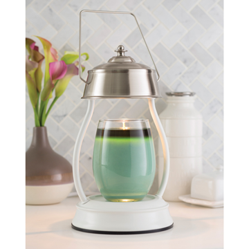 white nickel hurricane candle warmer lantern candle warmer lamp