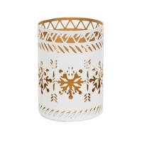 White Snowflake Petite Holder WoodWick Candle
