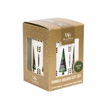 CLOSEOUT - White Trees with Frasier Fir Petite Gift Set WoodWick Candle | Discontinued & Seasonal WoodWick Items!