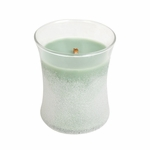CLOSEOUT-White Willow Moss Sanded Hourglass WoodWick Candle | Discontinued & Seasonal WoodWick Items!