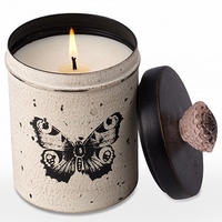 CLOSEOUT - Wild Green Fig 18 oz. Kitchen Butterfly Tin Candle by Himalayan Candles