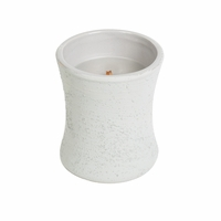 Wood Smoke Concrete Hourglass WoodWick Candle