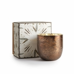 NEW! - Woodfire Luxe Sanded Mercury Glass Illume Candle | Holiday Collection by Illume Candles