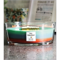 NEW! -  WoodWick Trilogy Candles with Hearthwick Flame