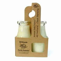Paperboard Milkbottle Candle Carrier by Milkhouse Candle Creamery