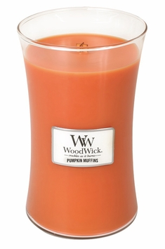 _DISCONTINUED_Pumpkin Muffins WoodWick Candle 22oz.