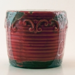Red Currant Swan Creek Round Vintage Pot (Color: Red) | Swan Creek Round Vintage Pot