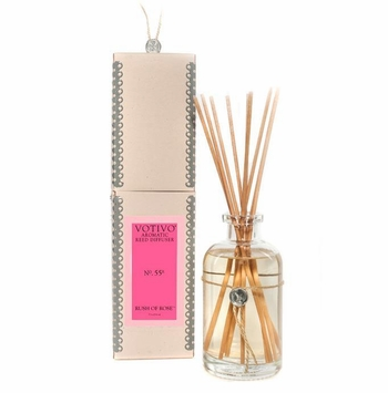 Rush of Rose Aromatic Reed Diffuser Votivo Candle