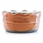 CLOSEOUT - Spiced Orange & Cinnamon Swan Creek Ruffled Edge Bowl (Color: Coral) | Swan Creek Candles Closeouts
