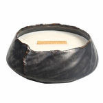 CLOSEOUT! - Vanilla Bean Brownstone Round WoodWick Candle with HearthWick Flame | Discontinued & Seasonal WoodWick Items!