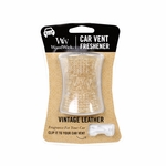 CLOSEOUT-Vintage Leather WoodWick Car Vent Freshener | Discontinued & Seasonal WoodWick Items!
