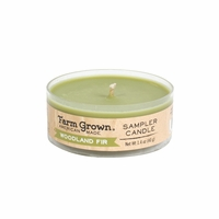 CLOSEOUT - Woodland Fir 1.4 oz. Sampler Candle Farm Grown Candle