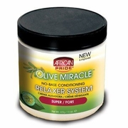 African Pride Olive Miracle No-Base Conditioning Relaxer 15oz