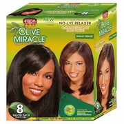 African Pride Olive Miracle No-Lye Relaxer - 8 Touch-ups