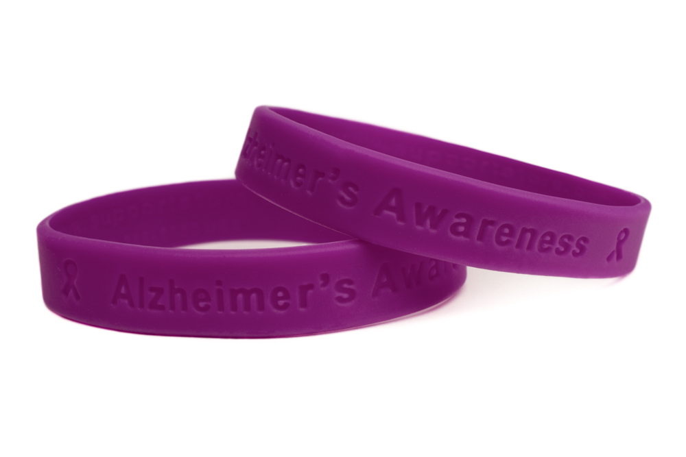 adult s alzheimer alzheimers hemophilia wristbands bracelet wristband rubber purple awareness