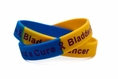 Bladder Cancer blue, yellow, purple wristband - Adult 8""