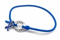 Blue Awareness Stretch Charm Bracelet