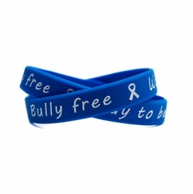 ROYAL BLUE STAND UP// SPEAK UP// STOP BULLYING AWARENESS BRACELET YOUTH
