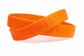 Cure MS Orange Rubber Bracelet Wristband - Youth 7""