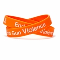 End Gun Violence #NEVERAGAIN Orange Wristband - Adult 8""
