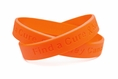 """Find a Cure - Kidney Cancer orange wristband - Youth 7"""""""