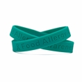 Food Allergy Awareness Teal wristband - Adult 8""