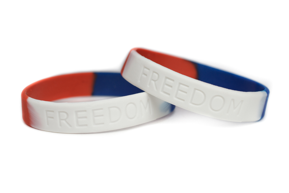 Patriotic Bracelet Military Wristband Red White Blue Bracelets