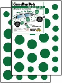 Game Day Dot Magnets - Green & White
