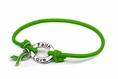 Green Awareness Stretch Charm Bracelet