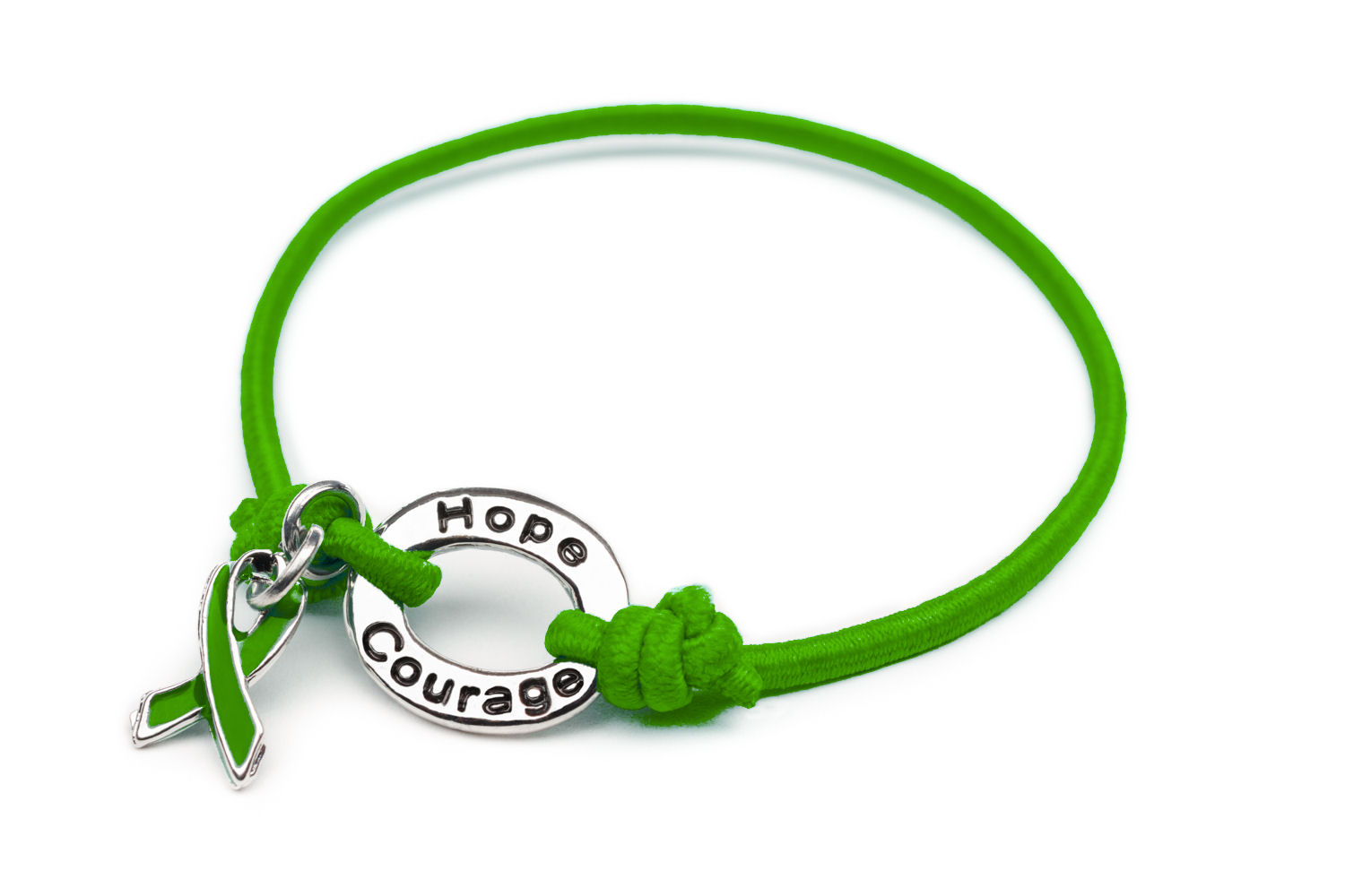 adrenal never cancer give charm green bracelet up cerebral survivor palsy ribbon pin liver
